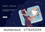 landing web page template with... | Shutterstock .eps vector #1776252254