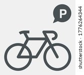 bicycle parking icon  speech... | Shutterstock .eps vector #1776264344