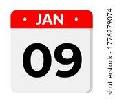 january calendar icon. calendar ... | Shutterstock .eps vector #1776279074