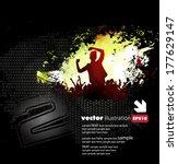 concert poster. vector... | Shutterstock .eps vector #177629147