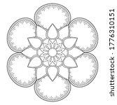 easy mandalas adult coloring... | Shutterstock .eps vector #1776310151