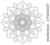easy mandalas adult coloring... | Shutterstock .eps vector #1776310157