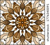 illustration in stained glass... | Shutterstock .eps vector #1776340091