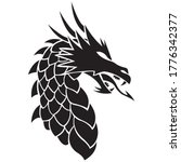 face of the dragon drawn in... | Shutterstock .eps vector #1776342377