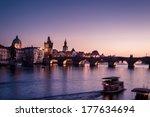 Charles Bridge At Night  Pragu...
