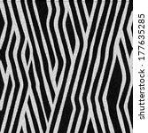 striped animal texture zebra | Shutterstock . vector #177635285