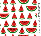seamless pattern with slices of ... | Shutterstock .eps vector #1776368591