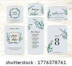wedding card with eucalyptus... | Shutterstock .eps vector #1776378761