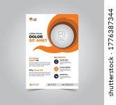 vector business flyer template  ... | Shutterstock .eps vector #1776387344