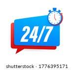24 7 service concept. 24 7 open.... | Shutterstock .eps vector #1776395171