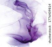 Blush Violet Vector Ink Waves...