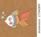 cute cartoon fish   Shutterstock .eps vector #177642899