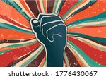 fist raised in protest or... | Shutterstock .eps vector #1776430067