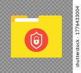 file protection on transparent... | Shutterstock .eps vector #1776433004