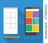 flat vector elements  notepad ...