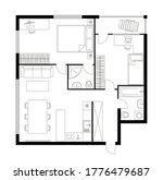 plan apartment. two bedroom... | Shutterstock .eps vector #1776479687