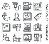 ultrasound diagnostic icons set ...   Shutterstock .eps vector #1776484907