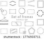 set of title index template  ... | Shutterstock .eps vector #1776503711