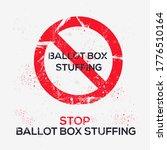 warning sign  ballot box...   Shutterstock .eps vector #1776510164