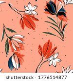 seamless pattern on coral... | Shutterstock . vector #1776514877