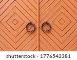 Ancient  Wooden  Metal Door ...