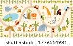 vector tropical maze with... | Shutterstock .eps vector #1776554981