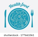 healthy food over white... | Shutterstock .eps vector #177661061