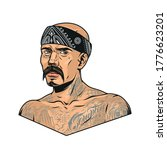 mustached latino gangster with... | Shutterstock .eps vector #1776623201