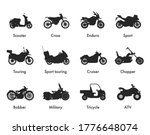 Motorcycle Icon Vector Logo...