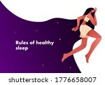 woman in the bed  trying to... | Shutterstock .eps vector #1776658007