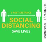 keep your distance sign.... | Shutterstock .eps vector #1776682241