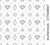 geometric seamless pattern in... | Shutterstock .eps vector #177668867