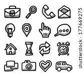 computer icons vintage drawings ... | Shutterstock .eps vector #177669275