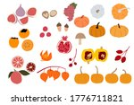 Abstract Autumn Fruit And...