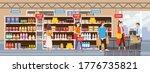 big shop super market shopping... | Shutterstock .eps vector #1776735821