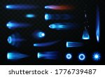jet flame set on transparent... | Shutterstock .eps vector #1776739487