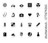 general hospital icons with... | Shutterstock .eps vector #177674261