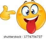 crazy face emoji emoticon with...   Shutterstock .eps vector #1776756737