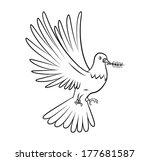 dove peace | Shutterstock .eps vector #177681587