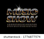 vector royal poster music show. ... | Shutterstock .eps vector #1776877574