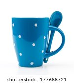 polka mug cup isolated white... | Shutterstock . vector #177688721