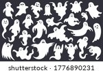 spooky halloween ghost. scary... | Shutterstock .eps vector #1776890231