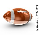 shiny american football  3d | Shutterstock . vector #177692741