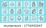 wash line icon set on... | Shutterstock .eps vector #1776933347