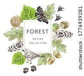 forest nature frame. bird ...   Shutterstock .eps vector #1776939281