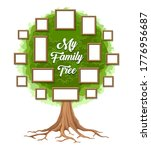 family tree with photo frames.... | Shutterstock .eps vector #1776956687