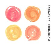 color hand drawn elements for...   Shutterstock . vector #177695819