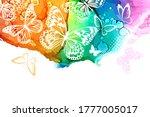 white butterflies on a... | Shutterstock .eps vector #1777005017