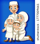 muslim family member on cartoon ...   Shutterstock .eps vector #1777009661