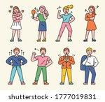 standing with the proud look of ...   Shutterstock .eps vector #1777019831
